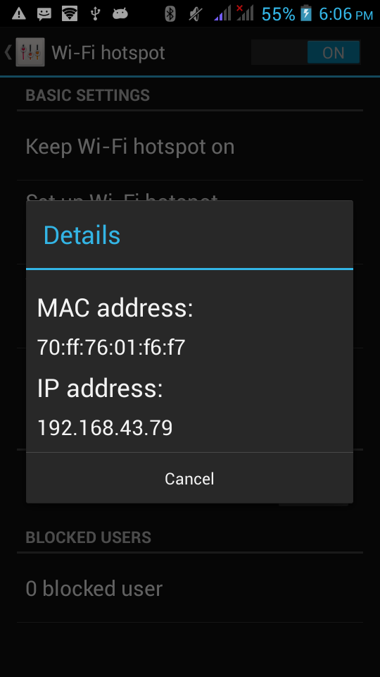how to find updated ip address and port number