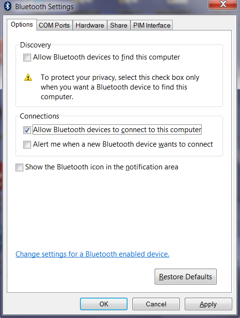 how to connect bluetooth mobile to laptop windows 7