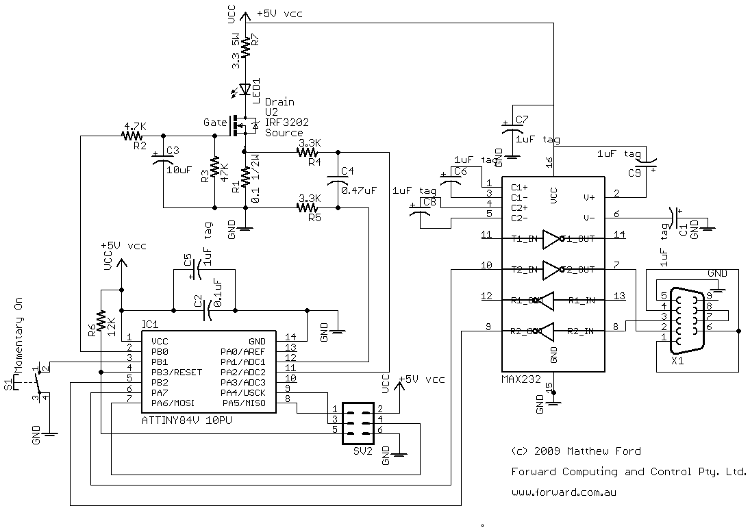 RS232 Circuit Description