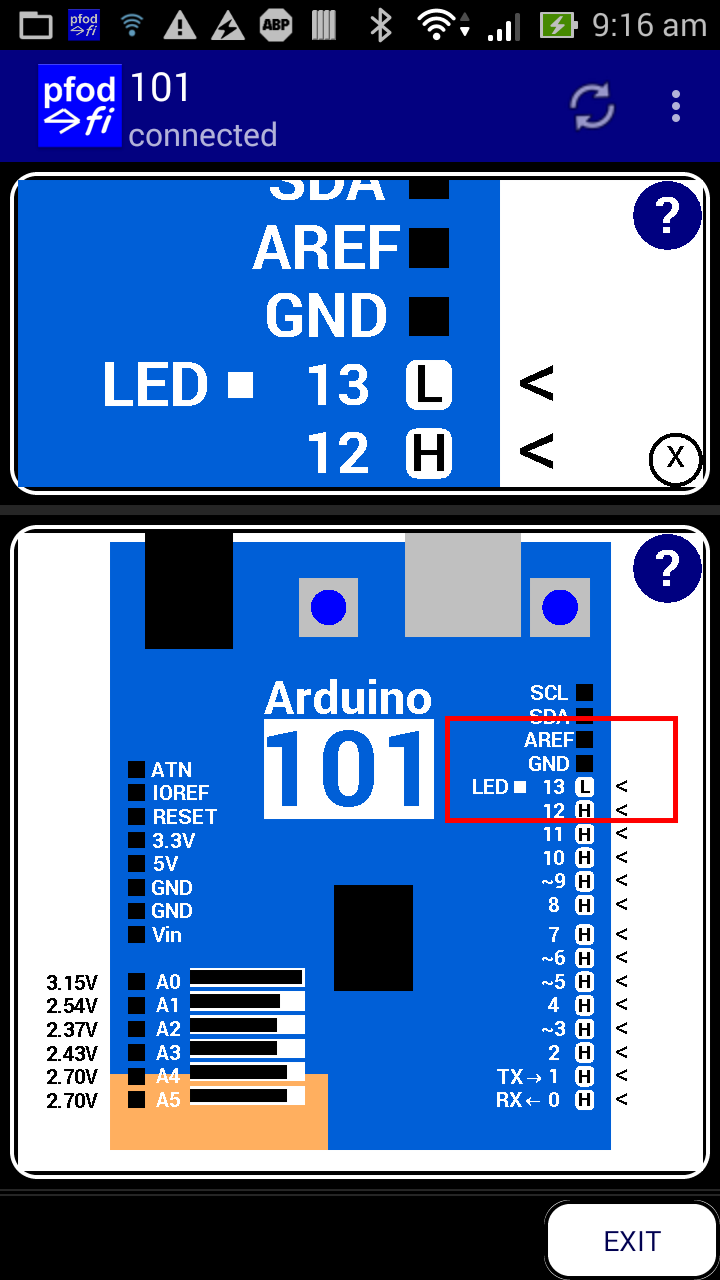 Arduino for Beginners Controlled by Android/pfodApp