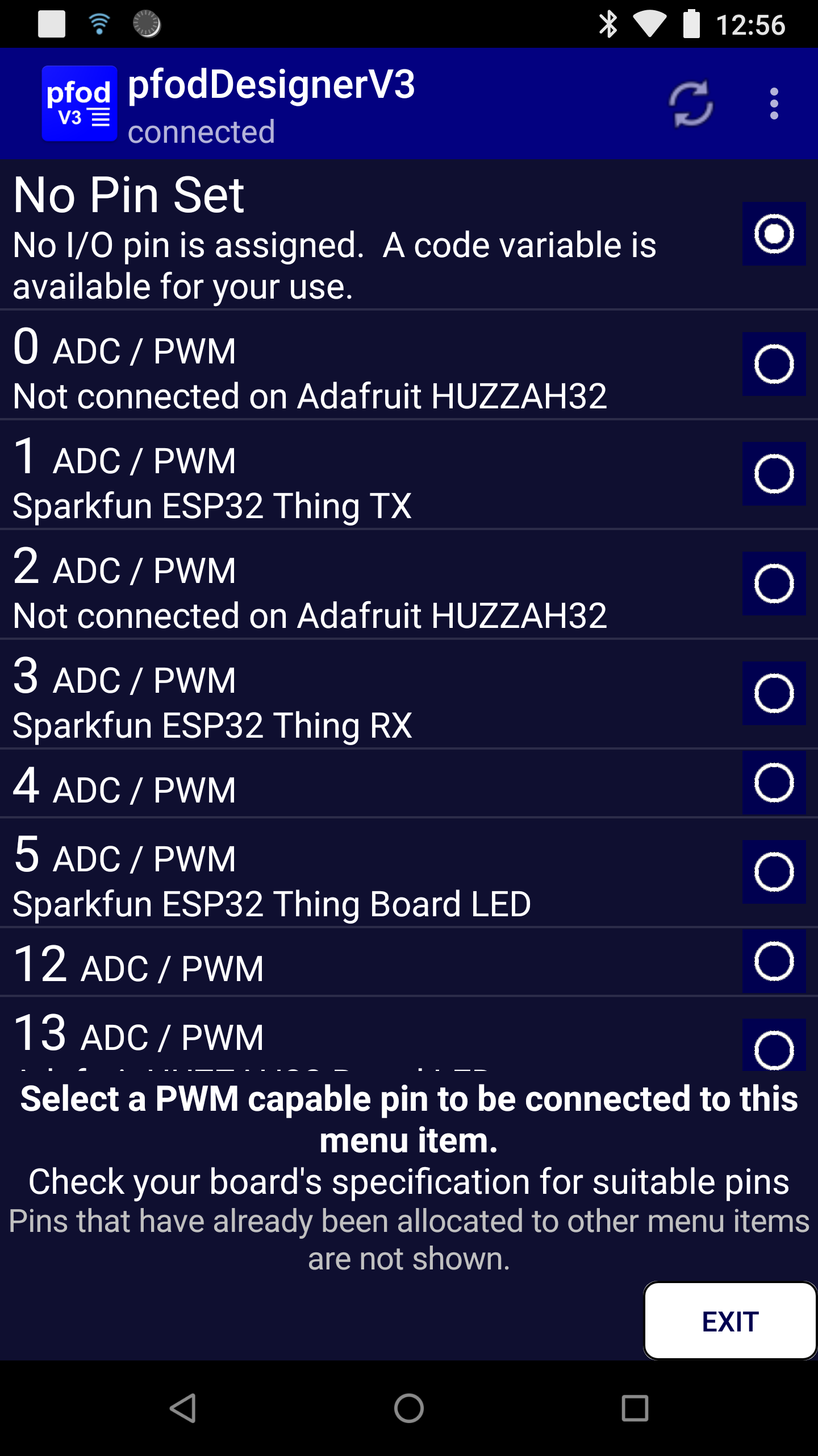 ESP32 Code Generator for pfodApp™ Creates complete code examples