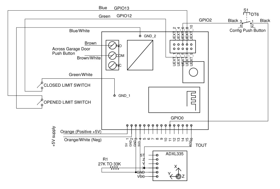 on garage door limit switch wiring diagram