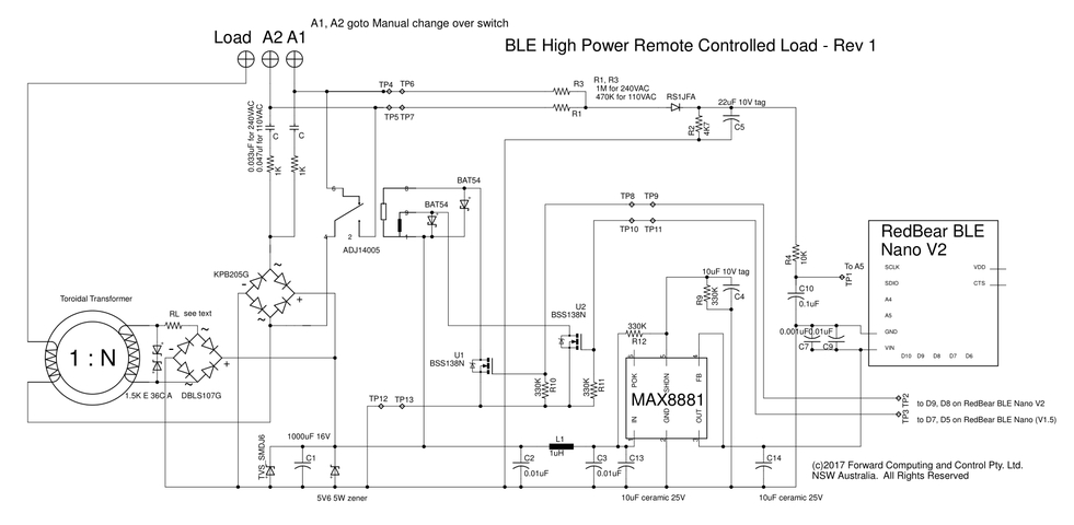 Ble Power Control With Pfodapp With Manual Override No