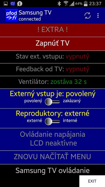 SAMSUNG LCD controller using pfodApp™