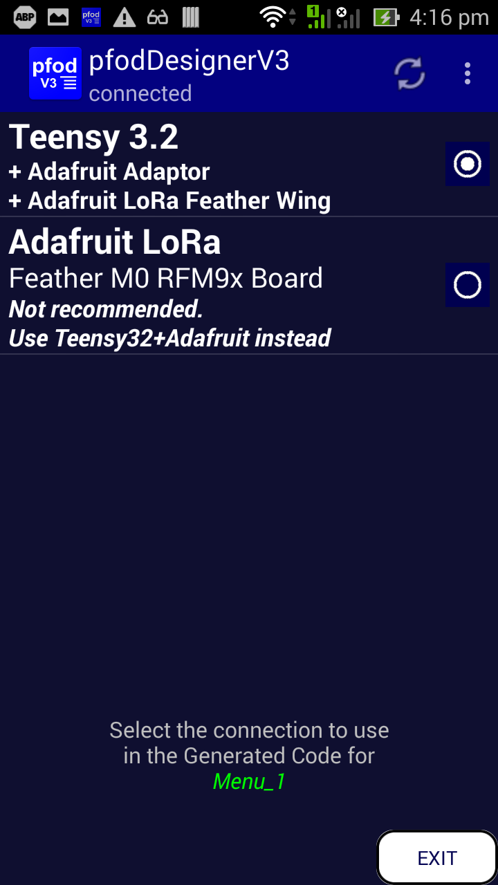 LoRa/Radio Remote Control Android Code Generator using <a