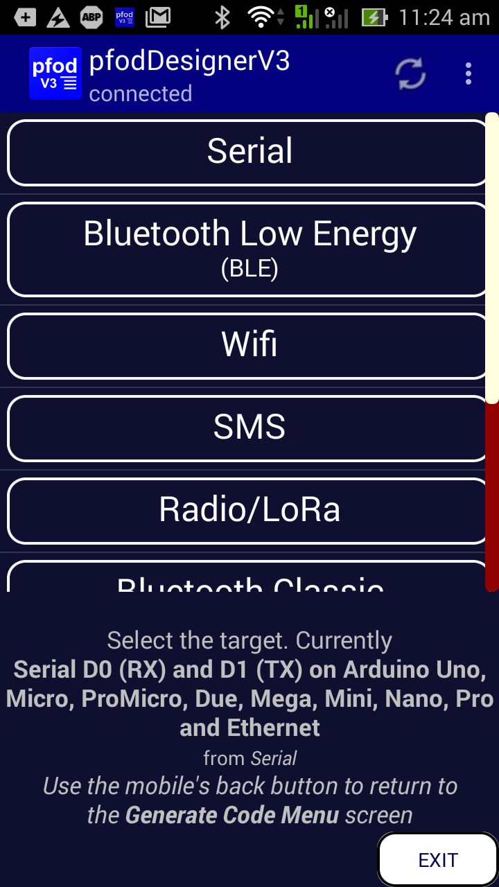 LoRa/Radio Remote Control Android Code Generator using <a href