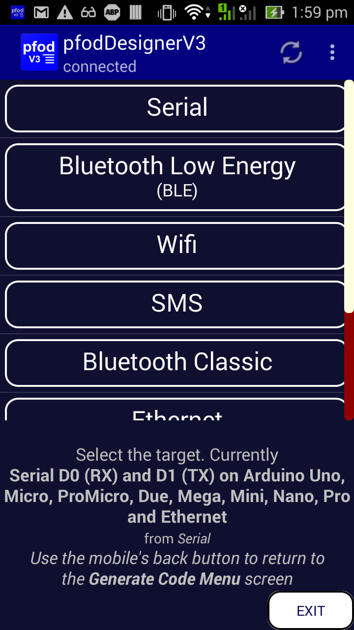 3g 2g Sms Remote Control Arduino Pfodapp Reliable Secure Relay Switch Tutorial Then Use The Mobiles Back Button To Get Editing Menu Screen From Which You Can Edit Prompt And Add Items Follow Design A