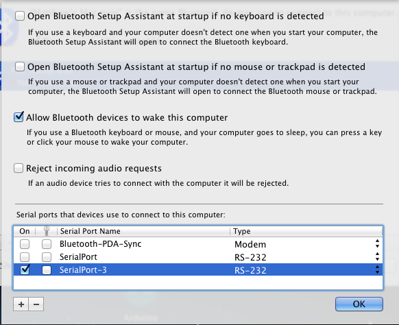 Mac OS X Serial Bluetooth Connection from your Mobile Phone